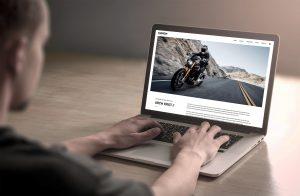 arch motorcycles web design